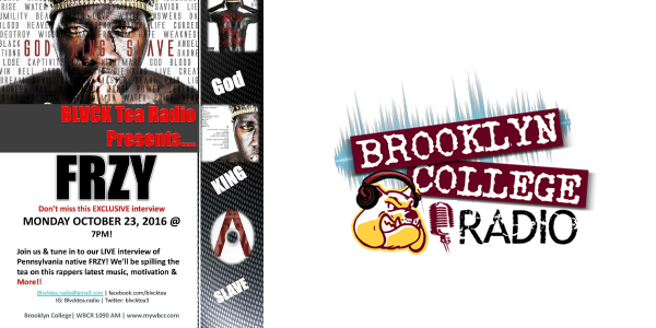 Catch Frzy LIVE Tonight on Brooklyn College Radio